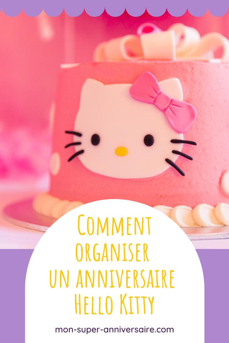 Conseils et astuces pour organiser un anniversaire Hello Kitty inoubliable : cartes d'invitation, gâteau, décoration, animations, cadeaux pour les invités.