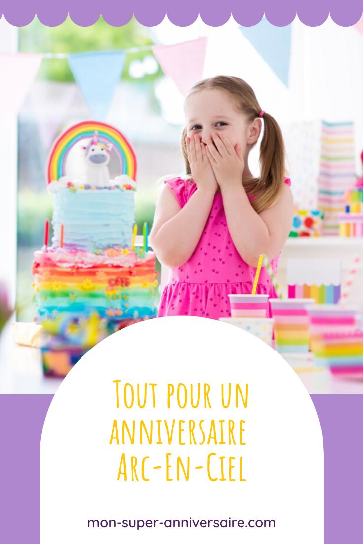 Une jolie fête colorée se prépare ? Découvre sans plus attendre toutes nos idées pour un anniversaire sur le thème arc-en ciel !