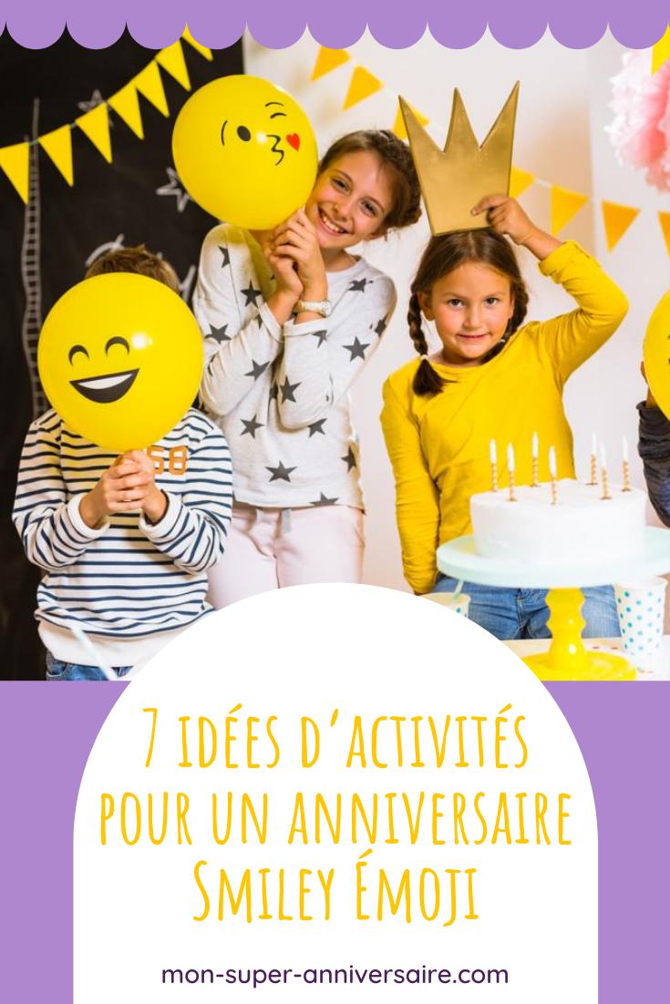Organiser des activités pour un anniversaire sur le thème Smiley Émoji : les idées les plus fun, les plus originales, les plus créatives…