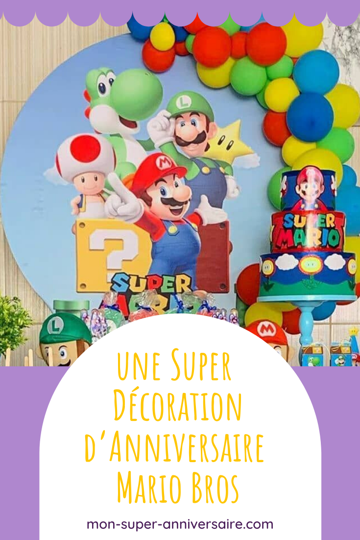 Une Decoration D Anniversaire Mario Bros Digne Du Jeu Video