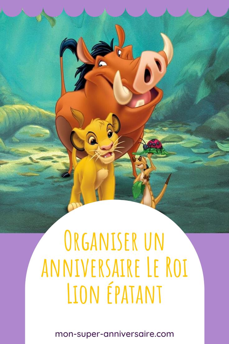 Découvre comment organiser un anniversaire Le Roi Lion : gâteau, décoration, activités, etc. Grâce à nos idées, c'est un vrai jeu d'enfant !