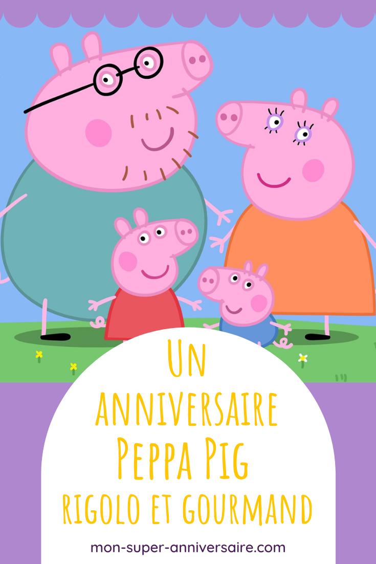 Organise un anniversaire sur le thème de Peppa Pig avec de nombreuses  idées pour la déco, le gâteau, les activités et même les cadeaux pour les invités.