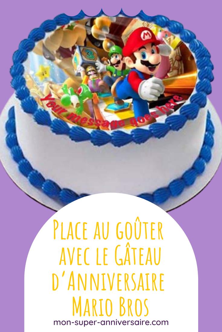Rends ta fête d'anniversaire Mario Bros inoubliable grâce à un gâteau délicieux et original, accompagné de petits gâteaux dans le thème.