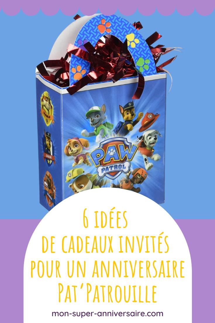 Des sacs aux surprises pour les enfants, découvre notre sélection de cadeaux invités pour un anniversaire Pat'Patrouille qui assure