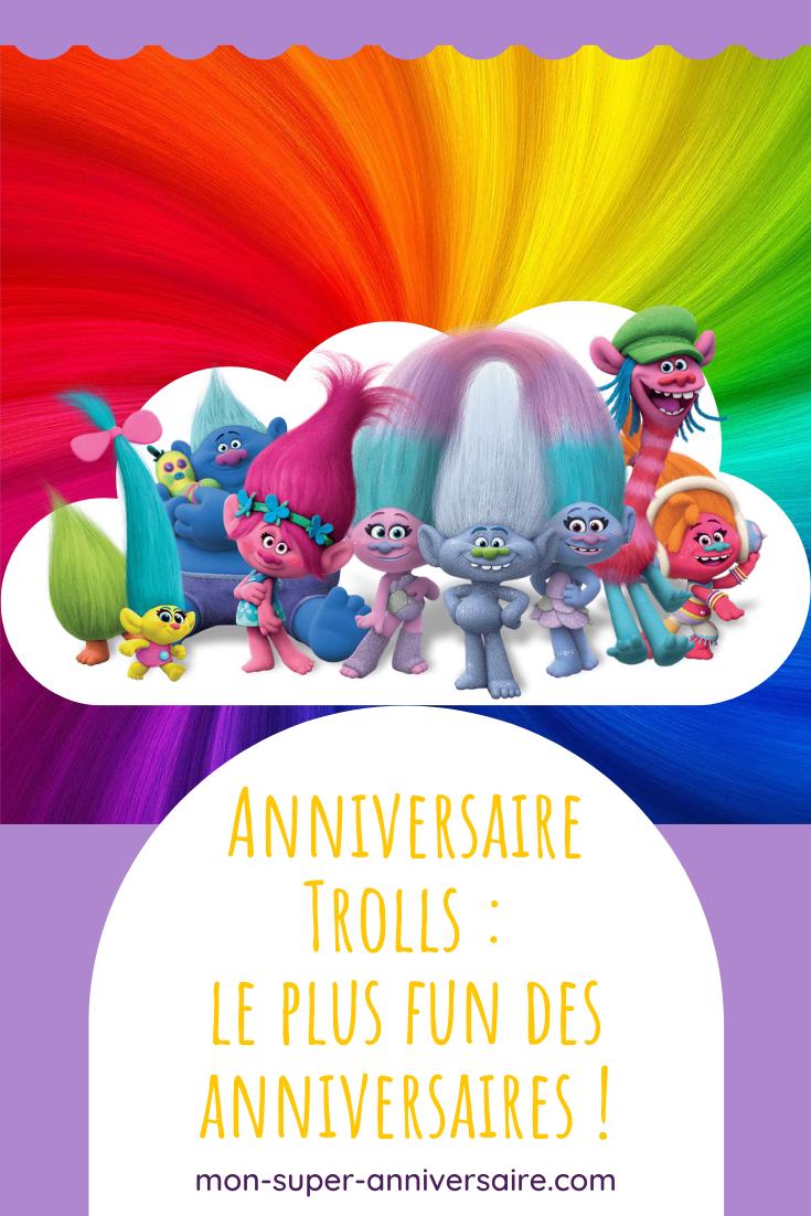 Découvre nos astuces pour organiser l'anniversaire Trolls le plus fun : décoration colorée, gâteau d'anniversaire spectaculaire et activités rigolotes !