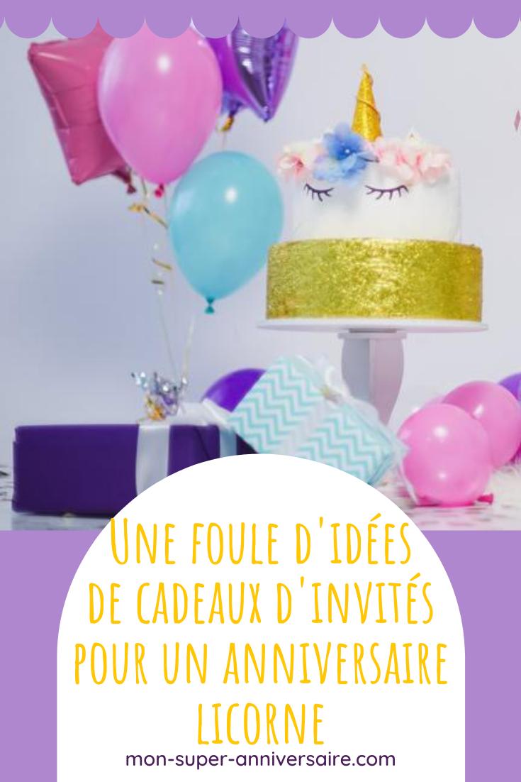 Retrouve nos supers idées de petits cadeaux d'invités pour un anniversaire licorne. De quoi ravir tous les participants !
