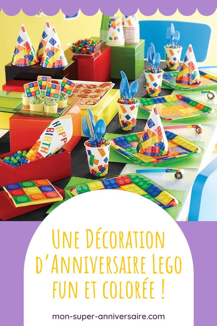 Pour réaliser une décoration d'anniversaire Lego réussie, trouves ici toutes les idées : décoration de table, ballons, banderoles, etc. et même des DIY !