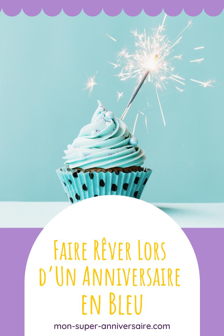 Pour organiser un anniversaire sur le thème du bleu, découvre toutes nos idées : invitations, déco, gâteau d'anniversaire, animations, etc.