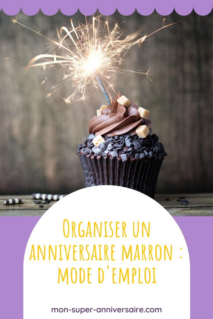 Conseils et astuces pour réaliser des cartes d'invitations, des activités, un gâteau et une décoration de goûter d'anniversaire marron au top.