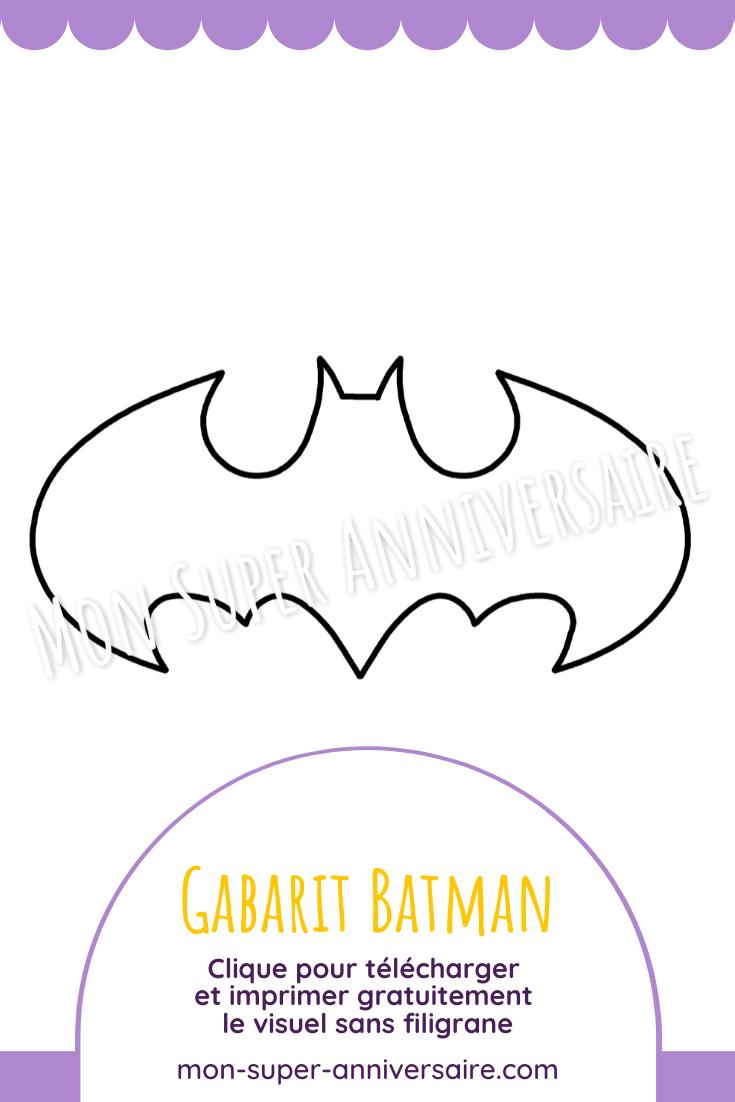 Clique sur l'image pour télécharger le gabarit Batman sans filigrane