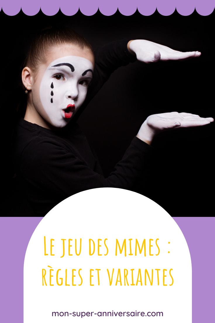 Découvre ici de nombreuses variantes du jeu des mimes. Ce jeu peut s'adapter à tous les âges, et même se jouer en équipes.