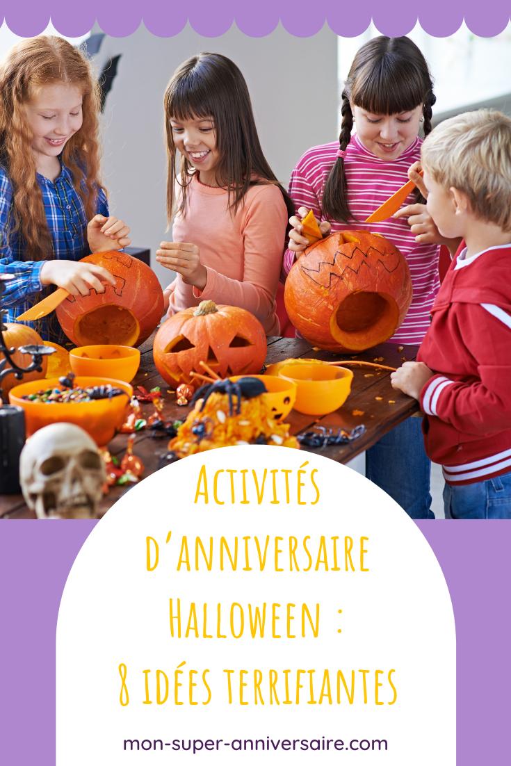 Découvre des idées d'activités d'anniversaire Halloween effrayantes. Habiller des momies, reconstituer un squelette perdu, pas de repos pour les monstres!