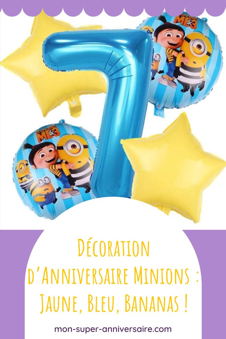 Découvre nos astuces pour une décoration d'anniversaire Minions bella comme la papaya : invitations, table d'anniversaire et décoration de salle trop Minions !