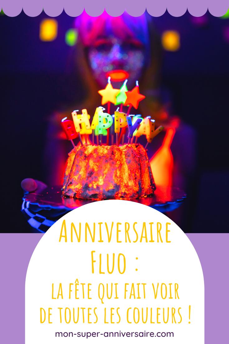 Tous nos conseils pour organiser un superbe anniversaire fluo. Invitations, gâteau d'anniversaire ou idées déco pour ta salle de réception : on te dit tout !