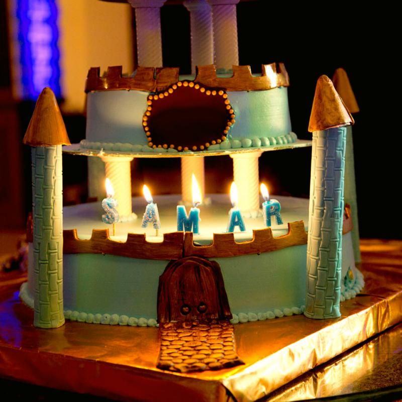 Gâteau d'anniversaire chevalier