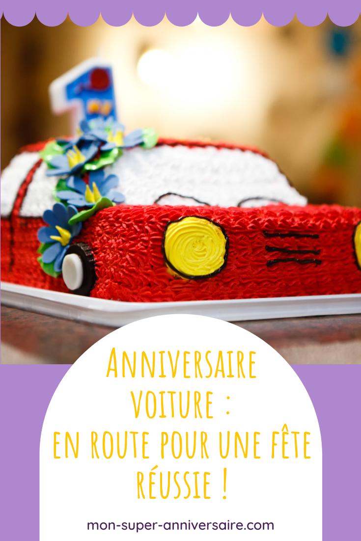 Organise l'anniversaire voiture pour enfant le plus vroum ! On t'explique tout, des invitations au gâteau, et même la décoration d'anniversaire.