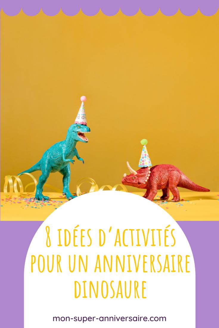 Découvre nos idées d'activités pour un anniversaire dinosaure super fun : fouilles archéologiques, lancer d'astéroïdes, chasse aux dinos…