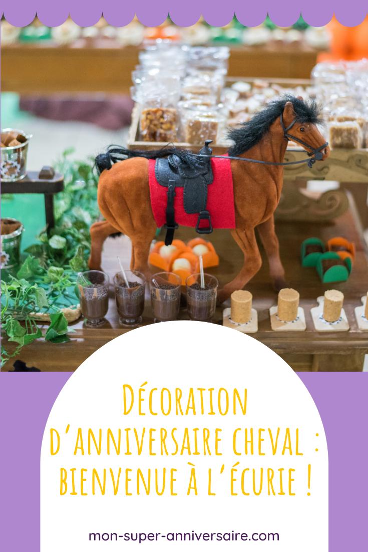 Compose une décoration d'anniversaire cheval épatante. On te guide des invitations à la décoration de la table d'anniversaire et de ta salle de réception.