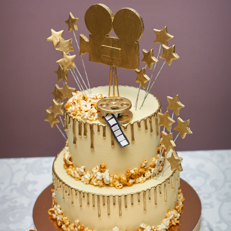 Nos belles idées pour réaliser de A à Z une sweet table et un gâteau d'anniversaire Cinéma de star !