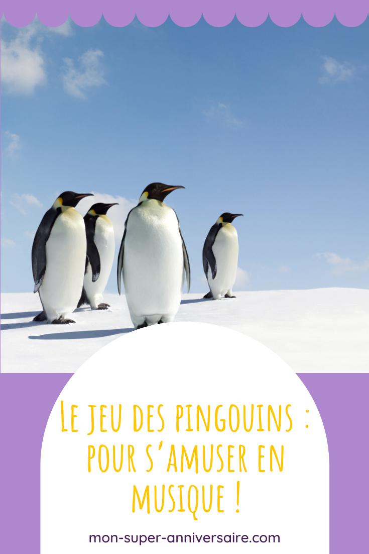 Le jeu des pingouins se pratique en intérieur ou en extérieur. Ce jeu collaboratif et musical est parfait lors les fêtes d'anniversaire !